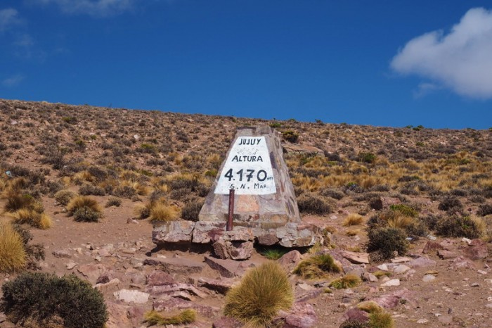 Argentina - We made it to the summit - yeah!