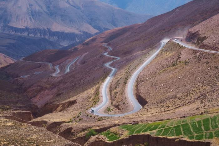 The fun descent from Cuesta de Lipan!