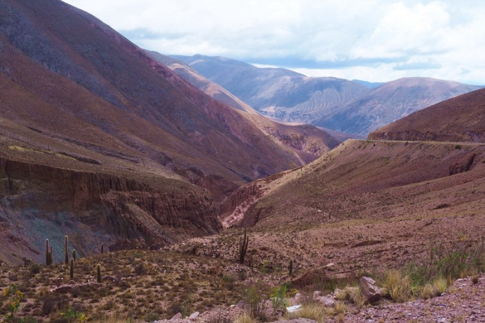 Argentina - Beautiful views on the descent from Cuesta de Lipan