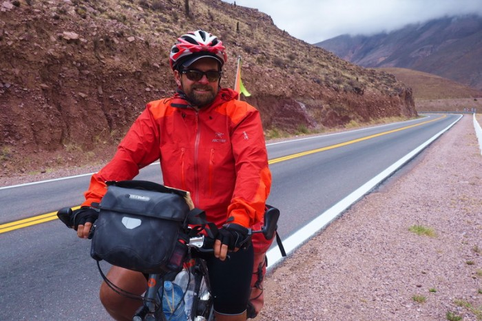 Argentina - David on the descent from Cuesta de Lipan