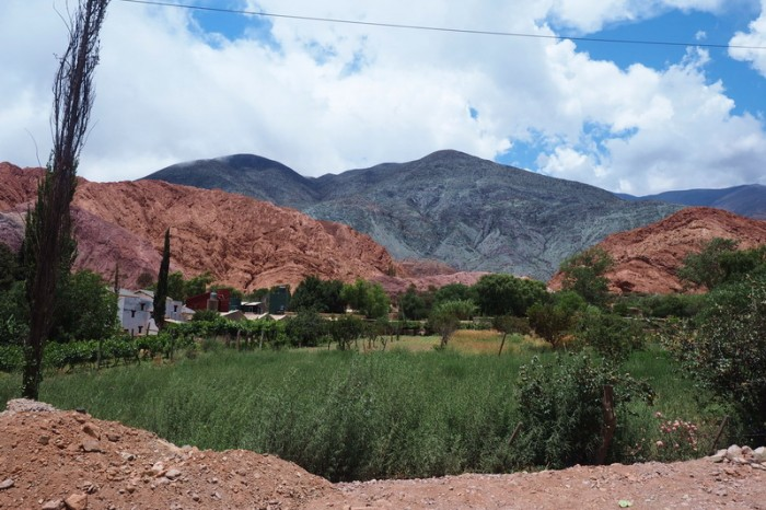 Argentina - The gorgeous town of Purmamarca - what a backdrop!