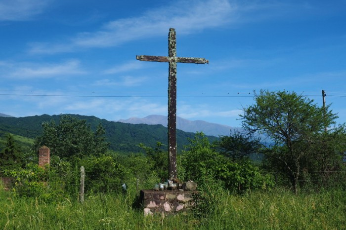 Argentina - Cross on the way to San Antonio