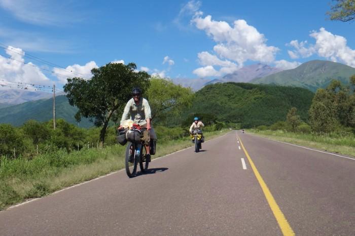 Argentina - Vince and Mylene enjoying the descent into San Antonio