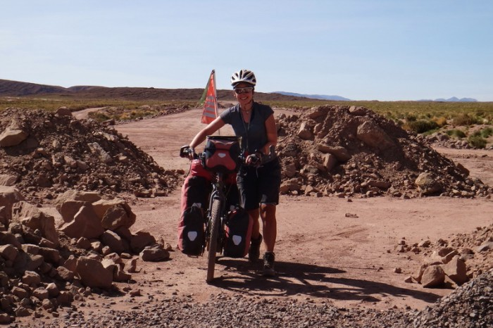Bolivia - The dirt road wasn't open to the public yet ... but that didn't stop us!