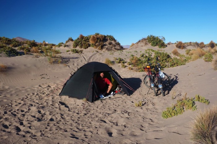 Bolivia - We camped among some sand dunes about 15kms from Sabaya