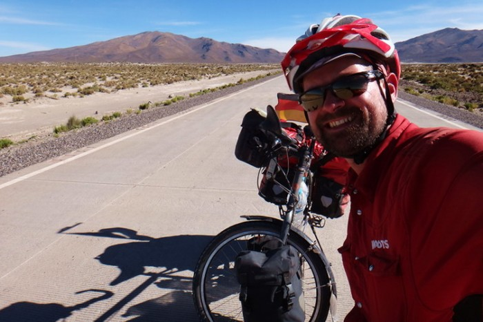 Bolivia - David on the final stretch to Sabaya