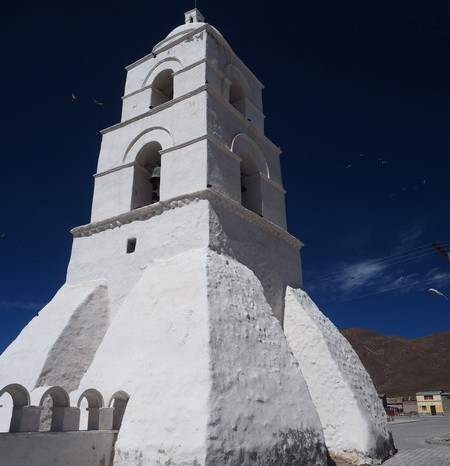 Bolivia - The lovely white church at Sabaya