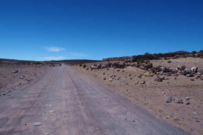 Bolivia - The road was generally ride-able from Sabaya to Salar de Coipasa