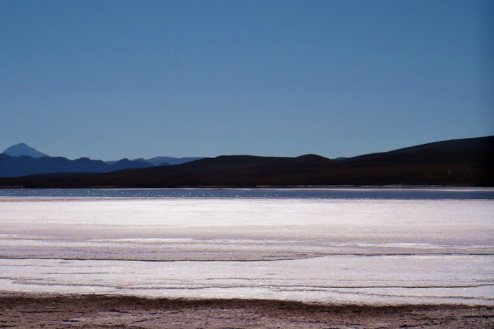 Bolivia - We found a lake on Salar de Coipasa