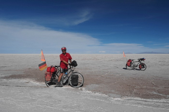 Bolivia - Not all the salt was pearly white on Salar de Coipasa