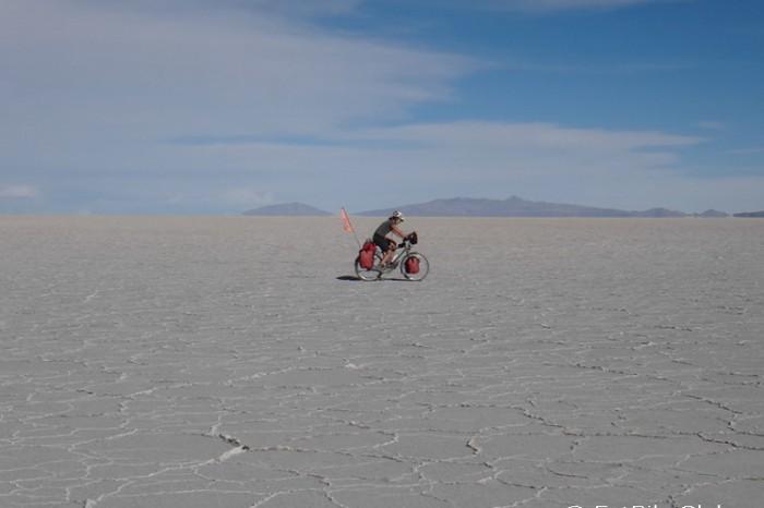 Bolivia - Jo cycling Salar de Coipasa