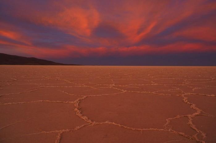 Bolivia - Amazing sunset, Salar de Coipasa