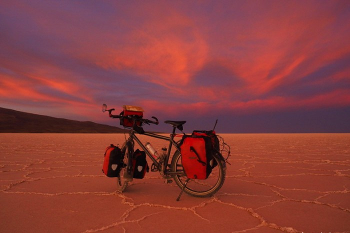 Amazing sunset, Salar de Coipasa