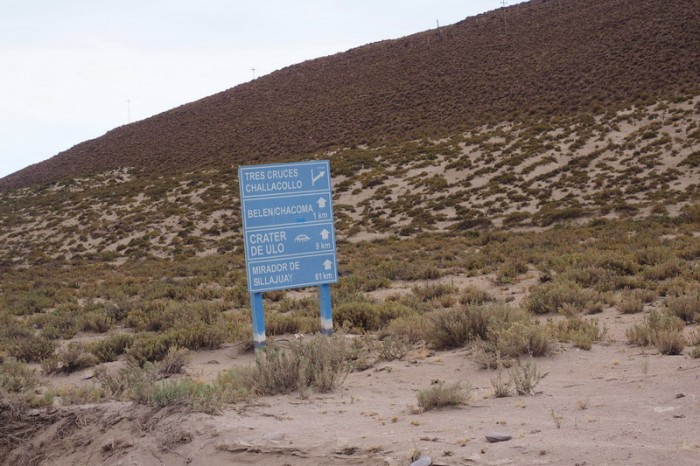 Bolivia - We knew we were on the right road when we saw this sign