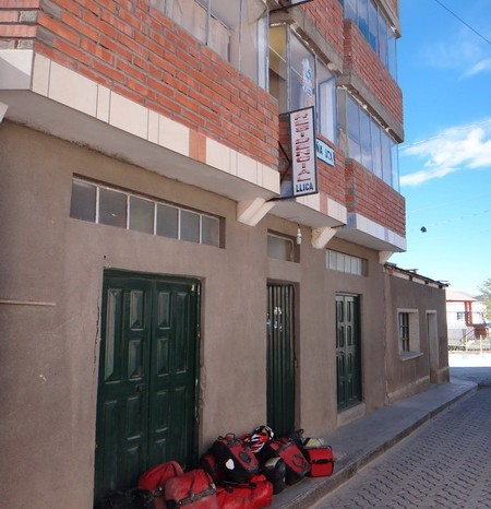 "Bolivia - Yeah ... we made it to Llica. This is our hostal ""Residencia"""