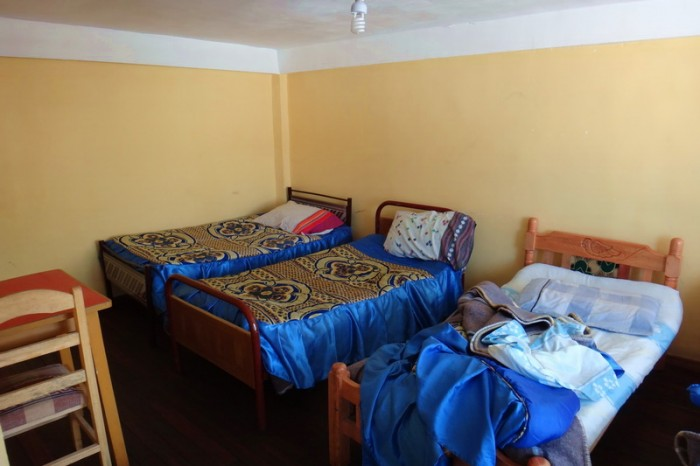 Bolivia - Our room at Hostal Residencia - clean and big