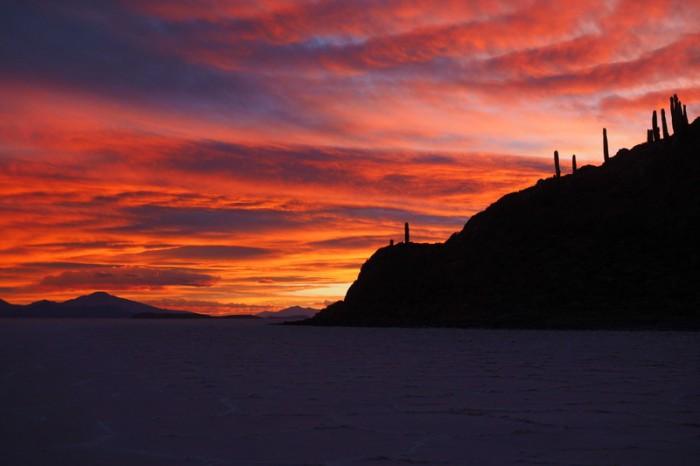 Bolivia - Sunset, Isla Incahuasi
