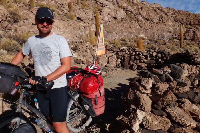 Bolivia - Our campsite, Isla Incahuasi