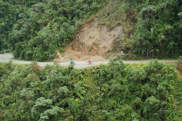 Bolivia - David descending the Death Road