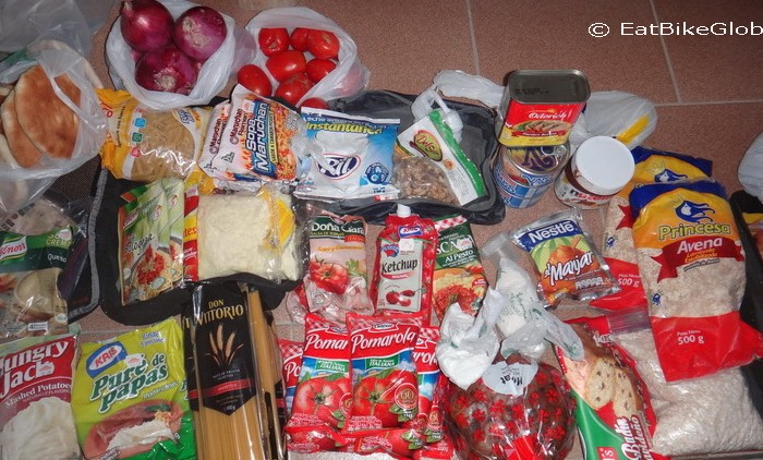 Bolivia - This was the food that we bought in San Juan for our 8 day crossing of the Laguna Route
