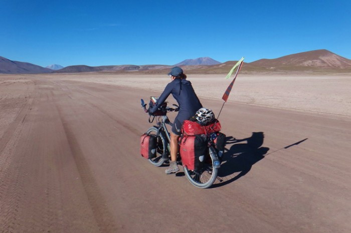 Bolivia - Day 1 of the Laguna Route: Cycling on Salar de Chiquana