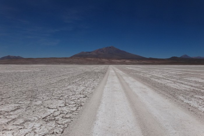 Bolivia - Day 1 of the Laguna Route: Crossing the Salar and following the railway line