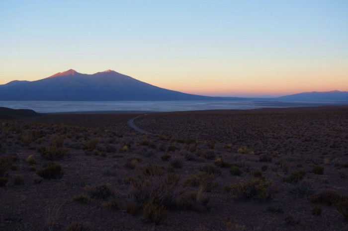 Bolivia - Day 1 of the Laguna Route: Sunset from our campsite