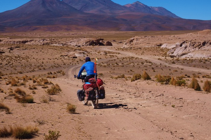 Bolivia - Day 2 of the Laguna Route: Sandy, but mostly ride-able tracks to the International Road