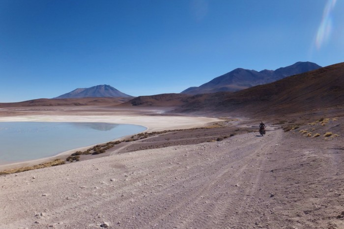 Bolivia - Day 3 of the Laguna Route: Cycling beside Laguna Honda