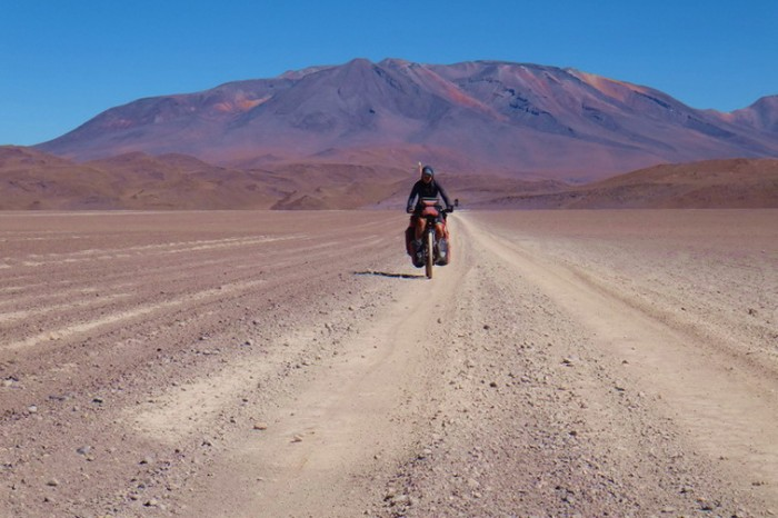 Bolivia - Day 3 of the Laguna Route: Cycling towards Hotel del Desierto - the road was still good here