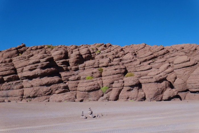Bolivia - Day 4 of the Laguna Route: The rocky outcrop ... be aware that the 4WDs stop here too