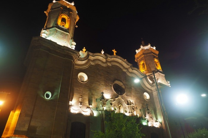 Bolivia - Potosi Cathedral by night