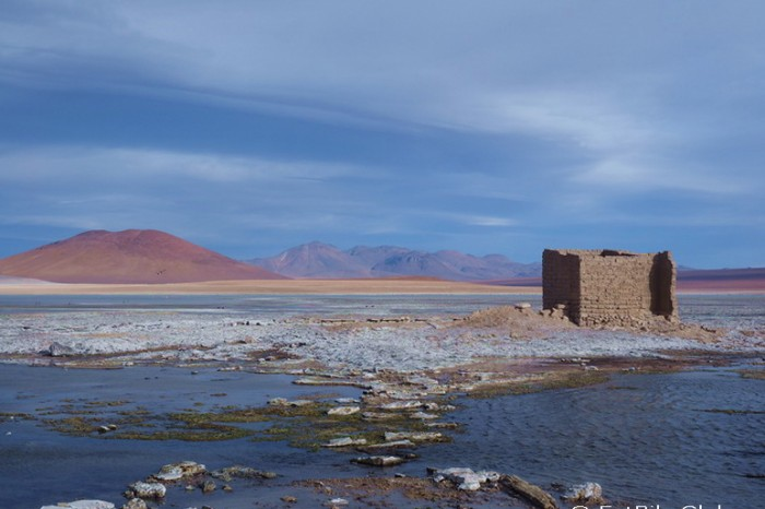 Bolivia - Day 7 of the Laguna Route: We explored Laguna Blanca and found some abandoned hot springs