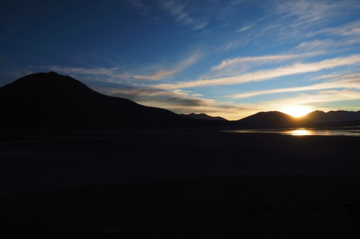 Bolivia - Day 8 of the Laguna Route: Sunrise from our campsite