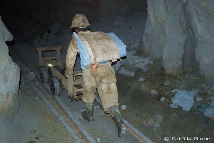 Bolivia - Miner at work, Cerro Rico, Potosi