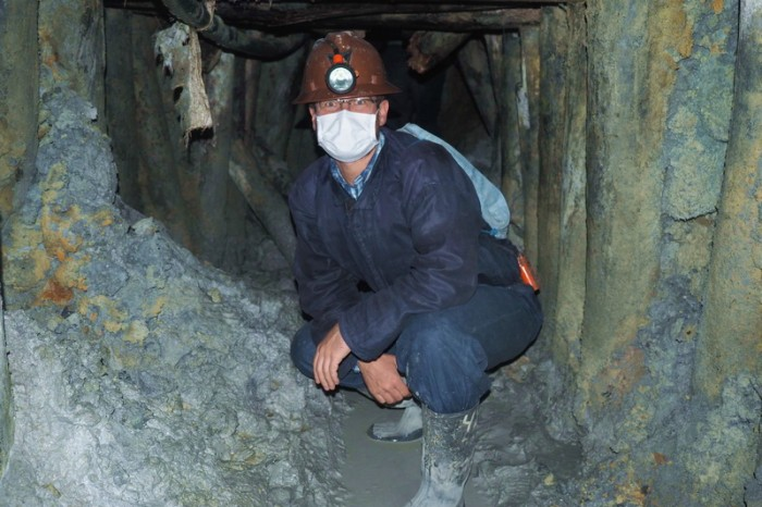 Bolivia - David at Cerro Rico Mine, Potosi
