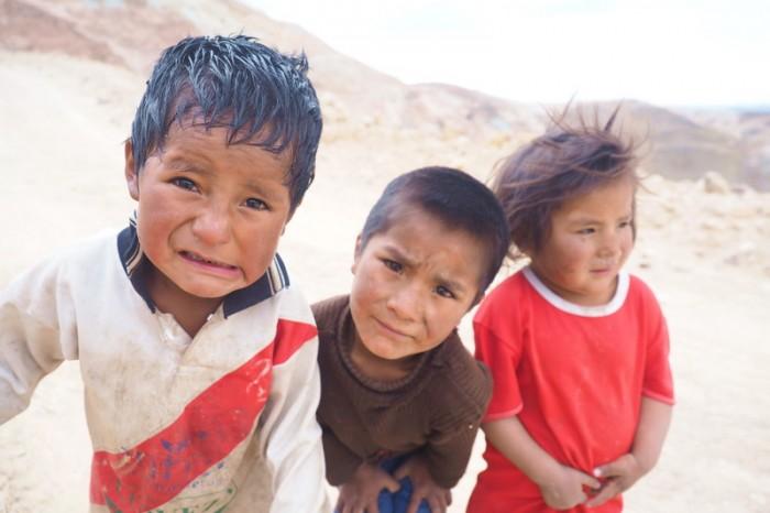 Bolivia - Miner's children, Cerro Rico, Potosi
