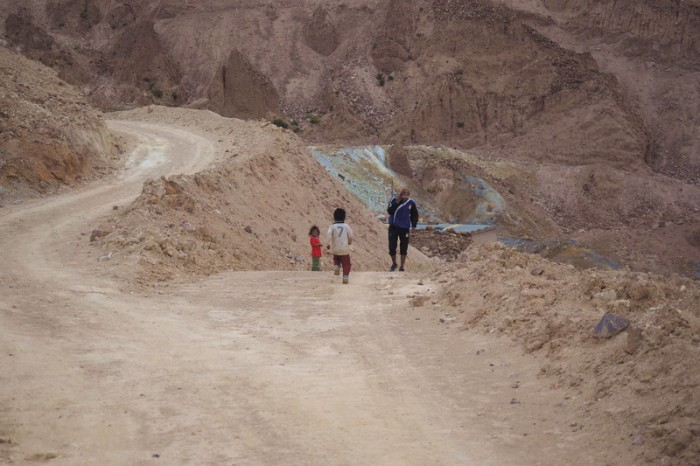 Bolivia - As we exited the mine, some miner's children came out to say hello
