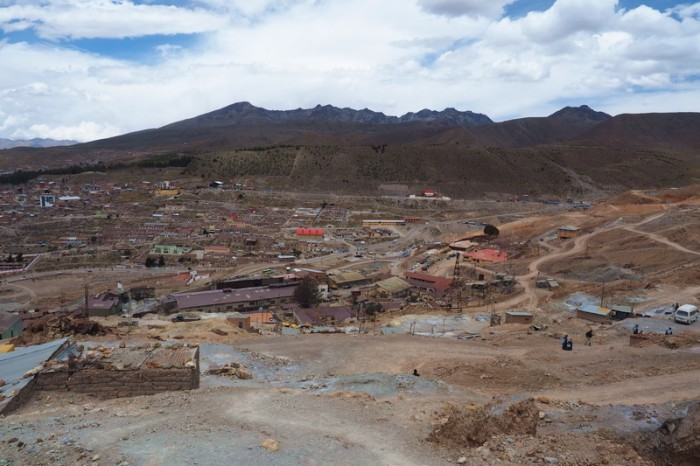 Bolivia - View of Potosi from the mine