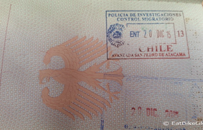 Chile - Another passport stamp ... this time for Chile!