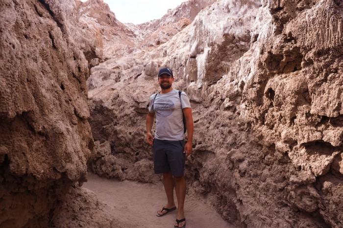 Chile - David exploring Valle de la Luna, near San Pedro de Atacama