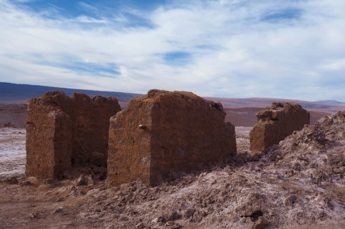 Chile - Old miner homes, Valle de la Luna, near San Pedro de Atacama