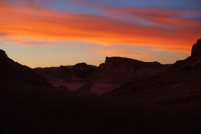 Chile - Sunset, Valle de la Luna, near San Pedro de Atacama