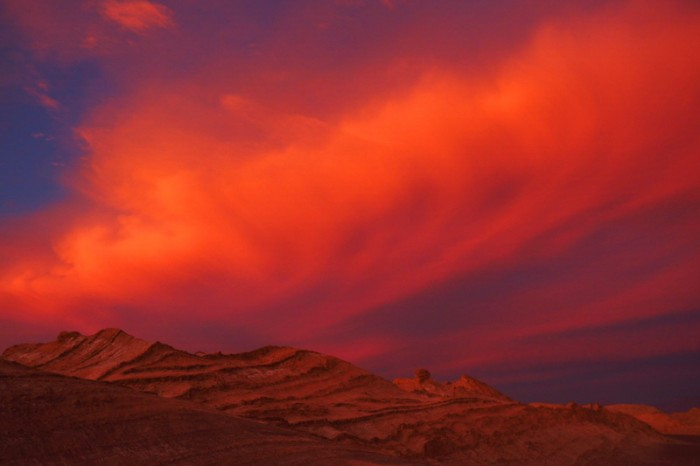 Chile - Spectacular sunset, Valle de la Luna, near San Pedro de Atacama