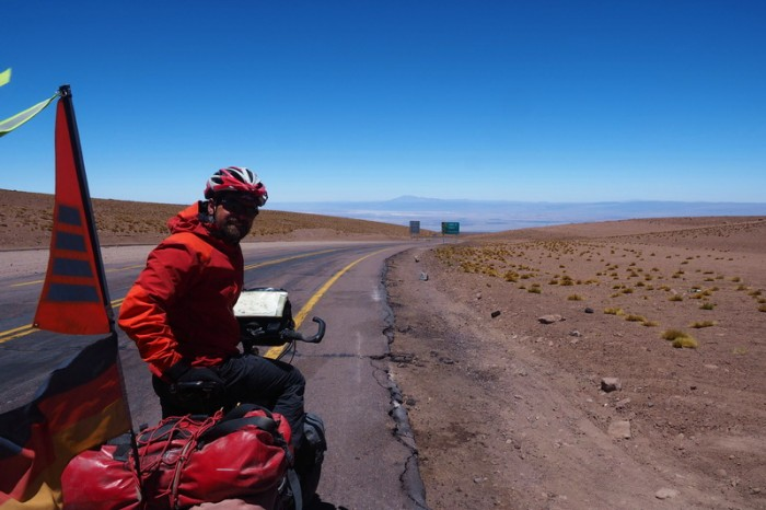 Chile - Day 8 of the Laguna Route: At the top of the 43km descent into San Pedro de Atacama