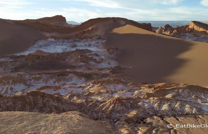 Chile - Sand dunes and salt, Valle de la Luna, near San Pedro de Atacama