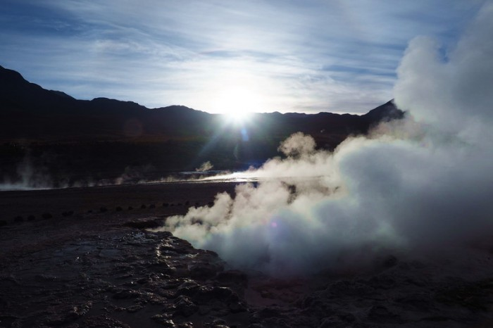Chile - Geysers del Tatio at sunrise