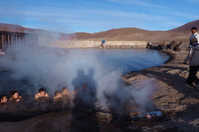 "Chile - The ""luke warm"" thermal pool, Geysers del Tatio"