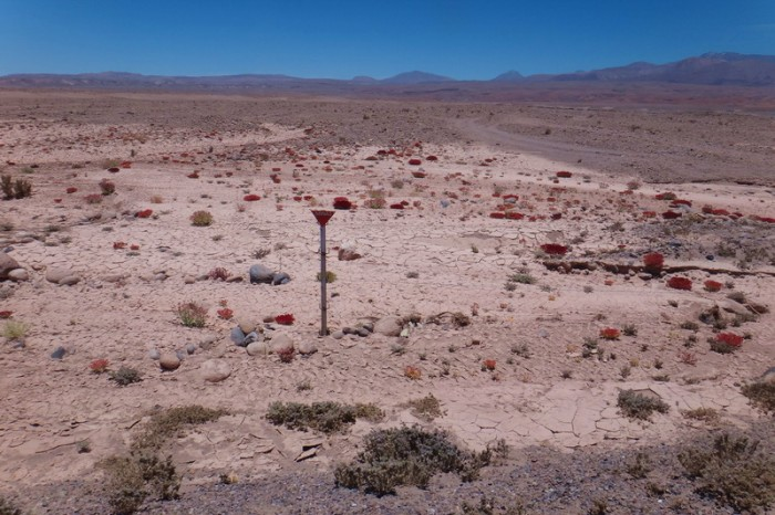Chile - Day 8 of the Laguna Route: On the descent into San Pedro de Atacama we passed mine fields ... bit scary!