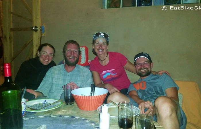 Chile - Dinner at Aji Verde with our French cycling buddies, Vince and Mylene